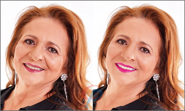 Face Wrinkles Retouching Service