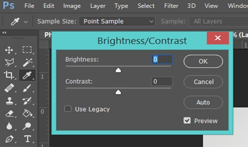Brightness and Contrast control in Adobe Photoshop