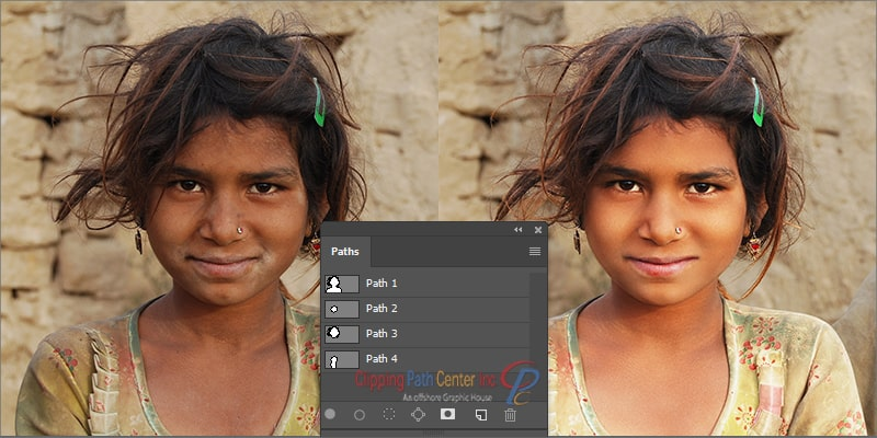 Clipping Paths for Retouching and Color Correction
