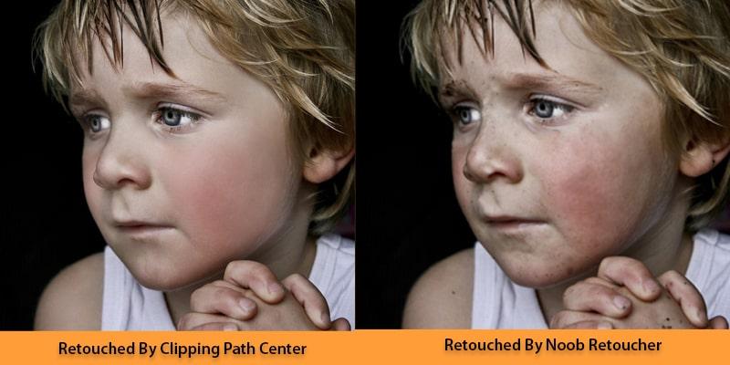 newbie vs pro retouching work