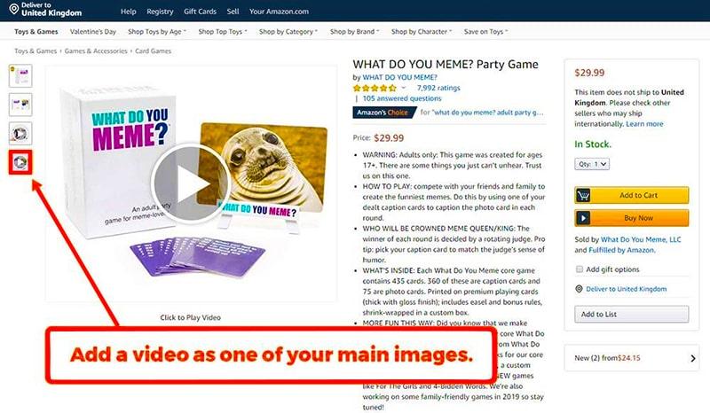 Example of videos on amazon.com