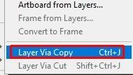Layer Via Copy option