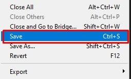 select the Save option