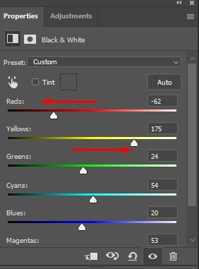 turning off the adjustment layer