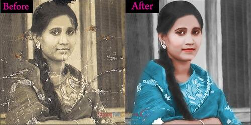 Colorization or Recolor of Black and White Photo