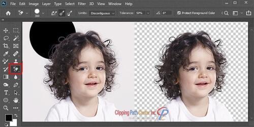 Photo Masking With Background Eraser Tool