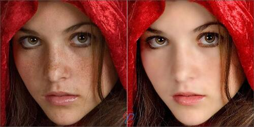 Portrait retouching example