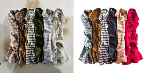 Clothes Color Correction Example Image