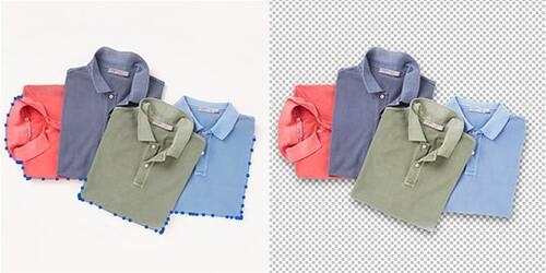 Clothes Photo Clipping Path Example