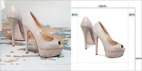 Shoe cropping and resizing