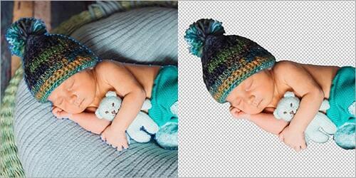 Clipping Path for Newborn Photos